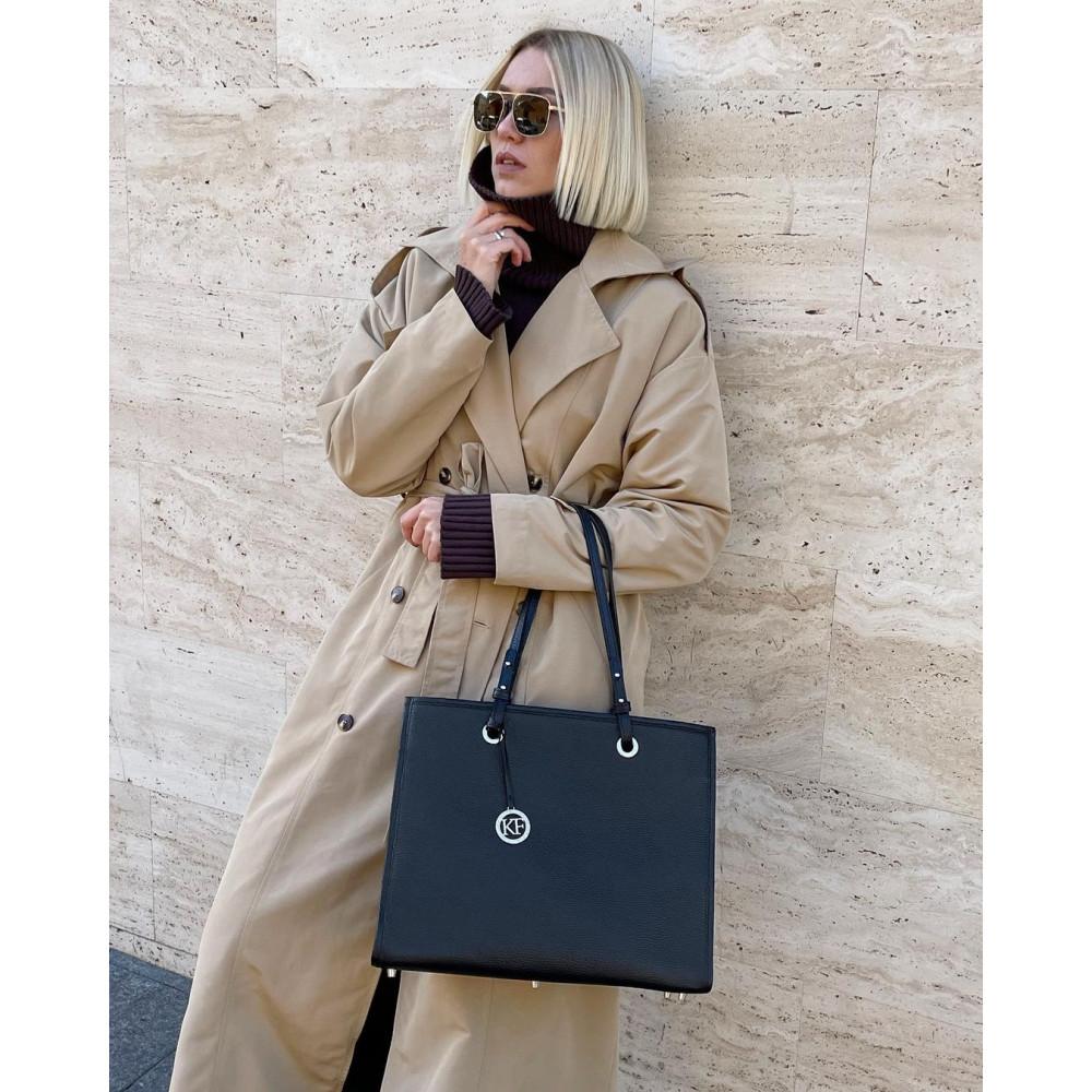 Жіноча шкіряна сумка Shopper KF-4640