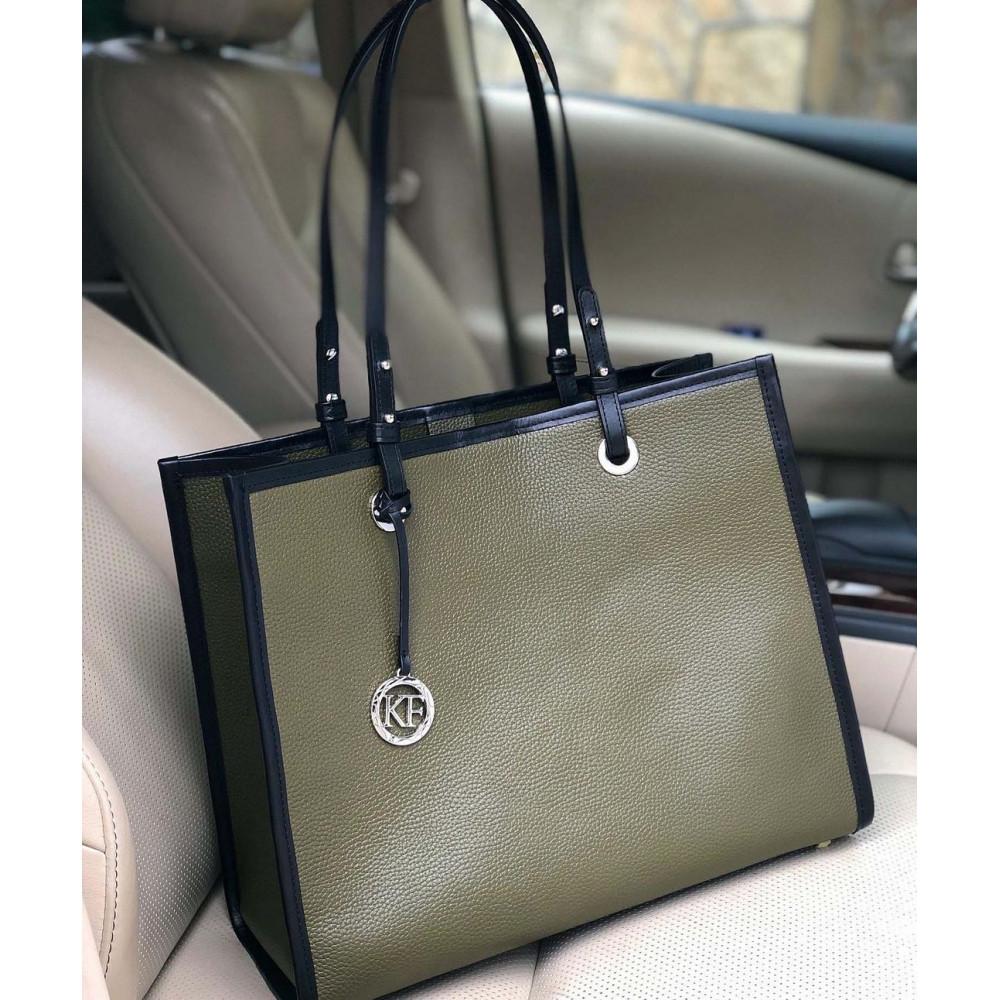 Жіноча шкіряна сумка Shopper KF-4652