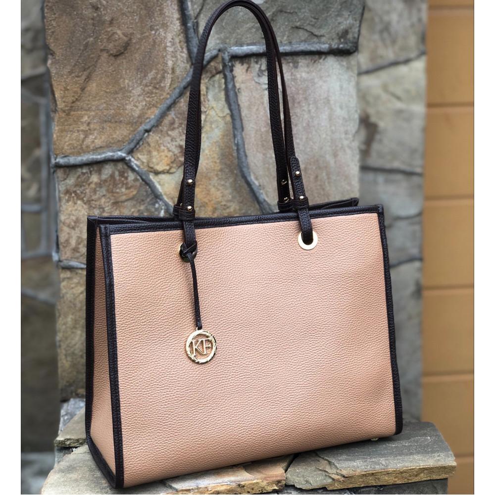Жіноча шкіряна сумка Shopper KF-4670