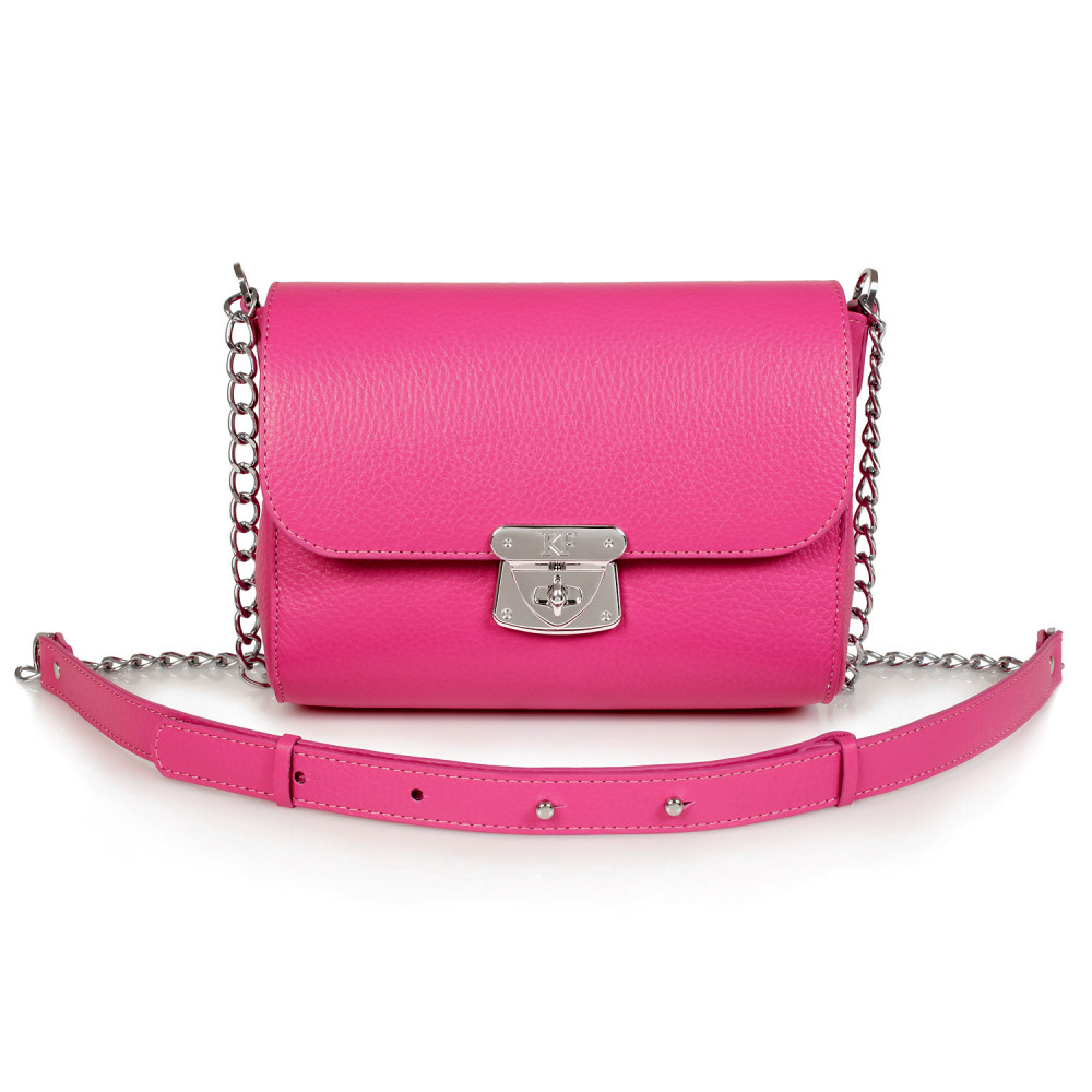 Women's leather bag on a chain Prima S KF-469-