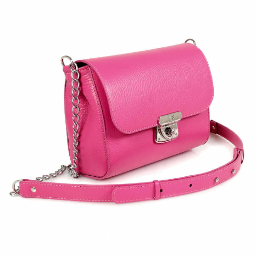 Women's leather bag on a chain Prima S KF-469-1