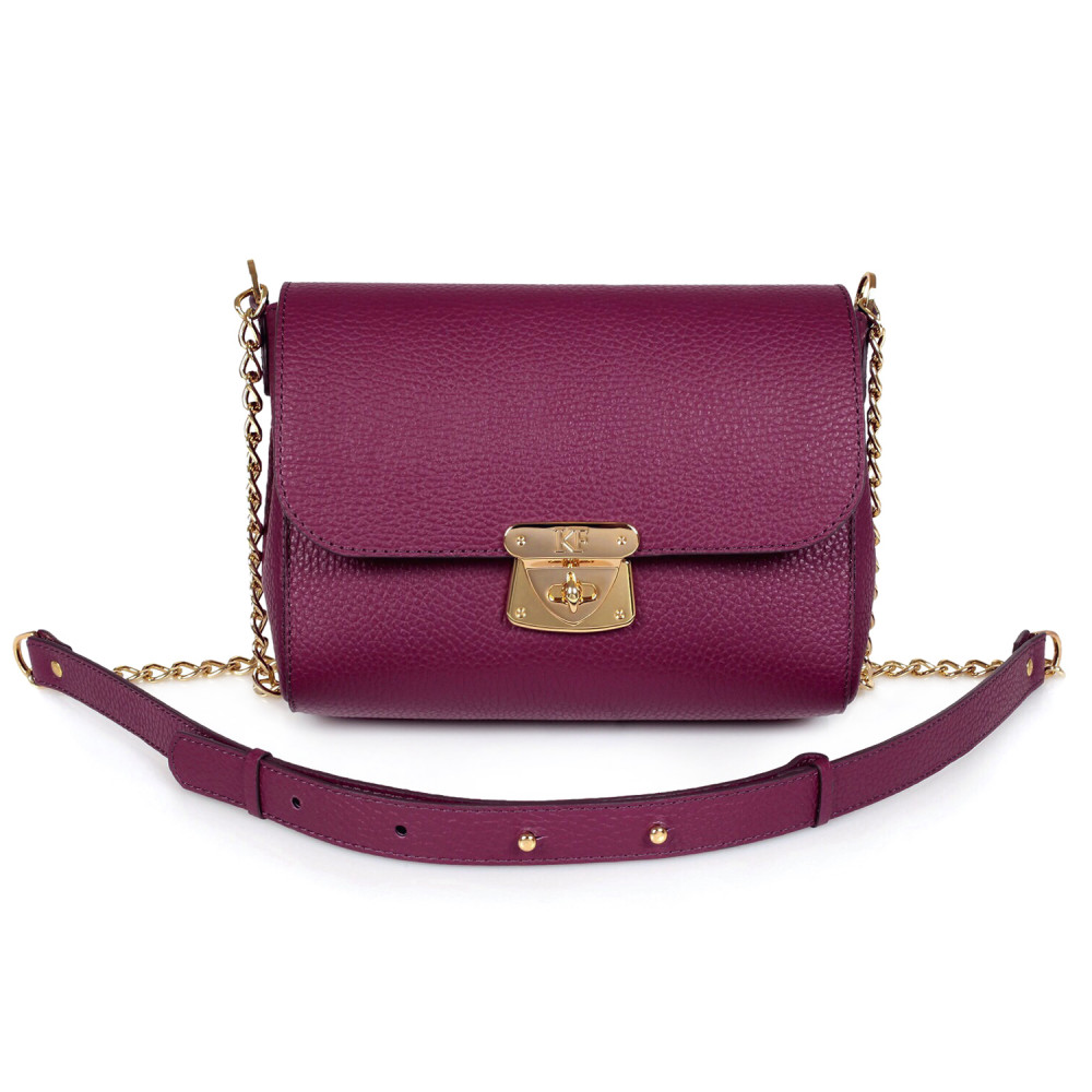 Women's leather bag on a chain Prima S KF-473-