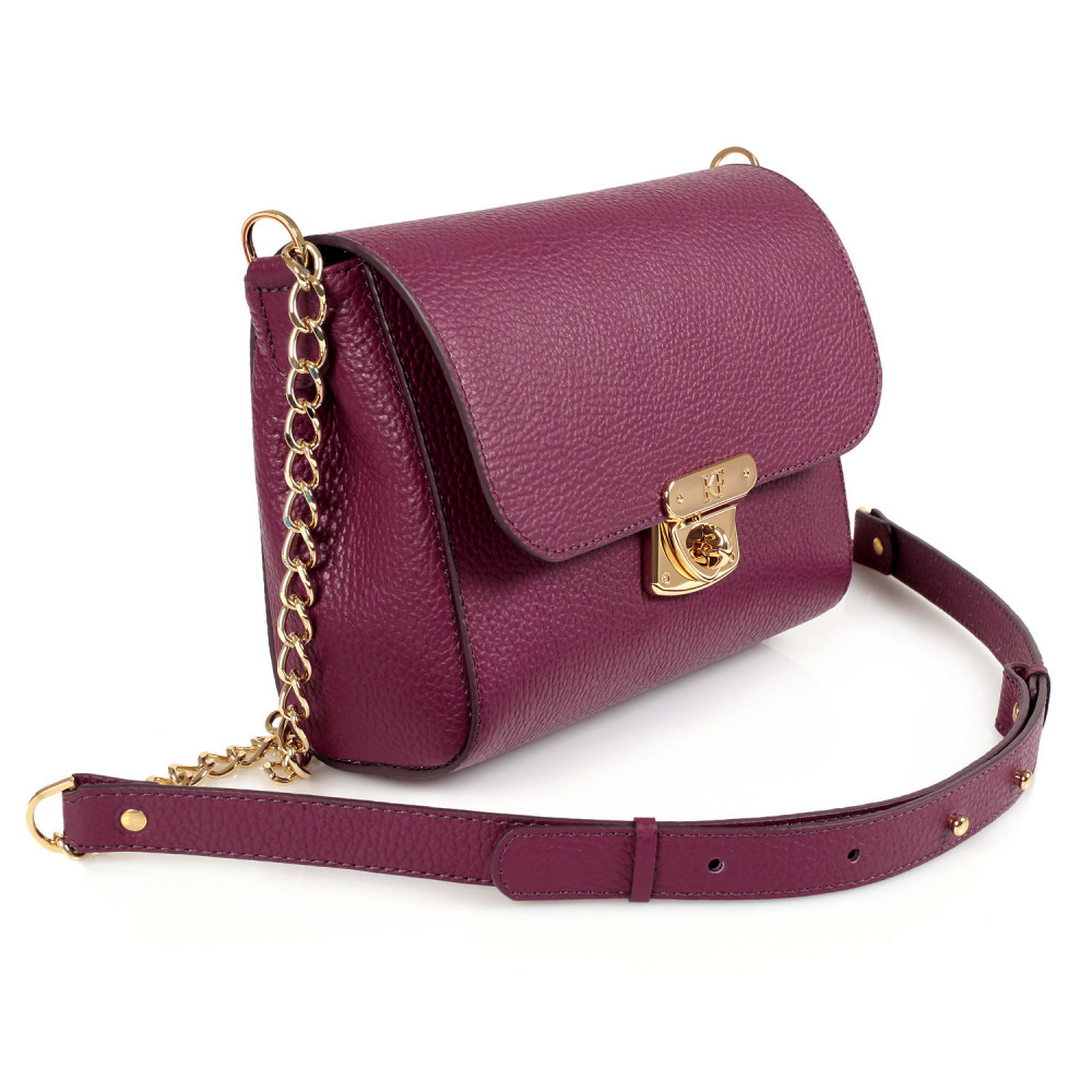 Women's leather bag on a chain Prima S KF-473-1