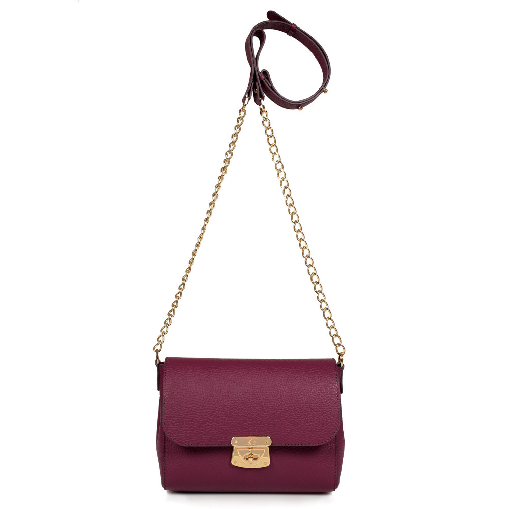 Women's leather bag on a chain Prima S KF-473-2