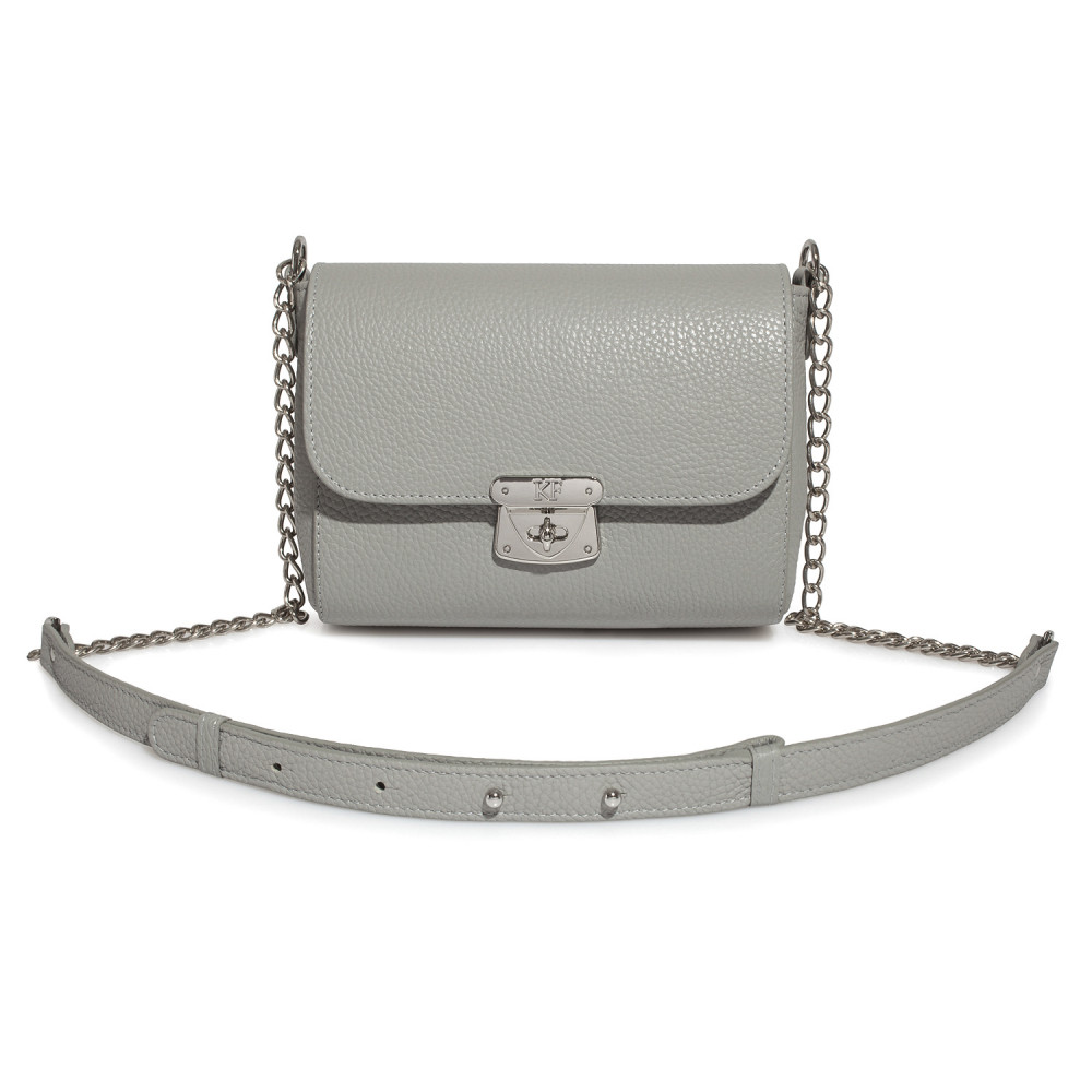 Women's leather bag on a chain Prima S KF-475-