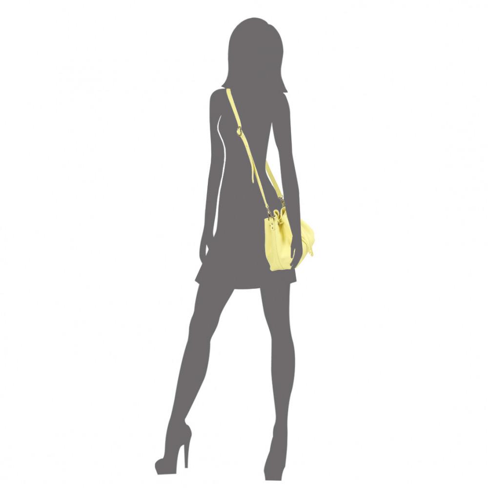Жіноча шкіряна сумка-мішок Хобо Sonya KF-532-6