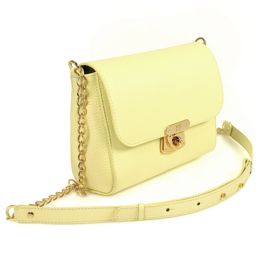 Women's leather bag on a chain Prima S KF-540-2