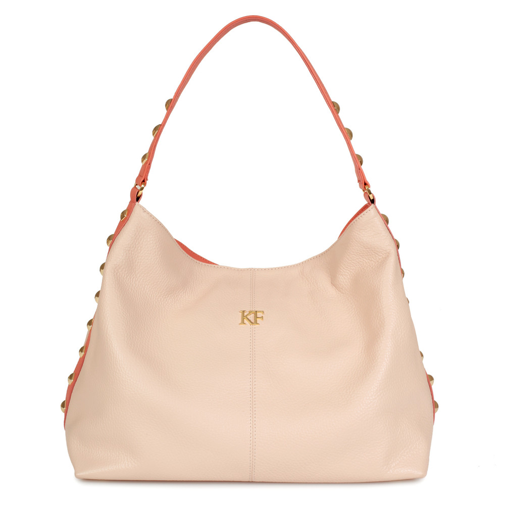 Жіноча шкіряна сумка-мішок Хобо Nata KF-596