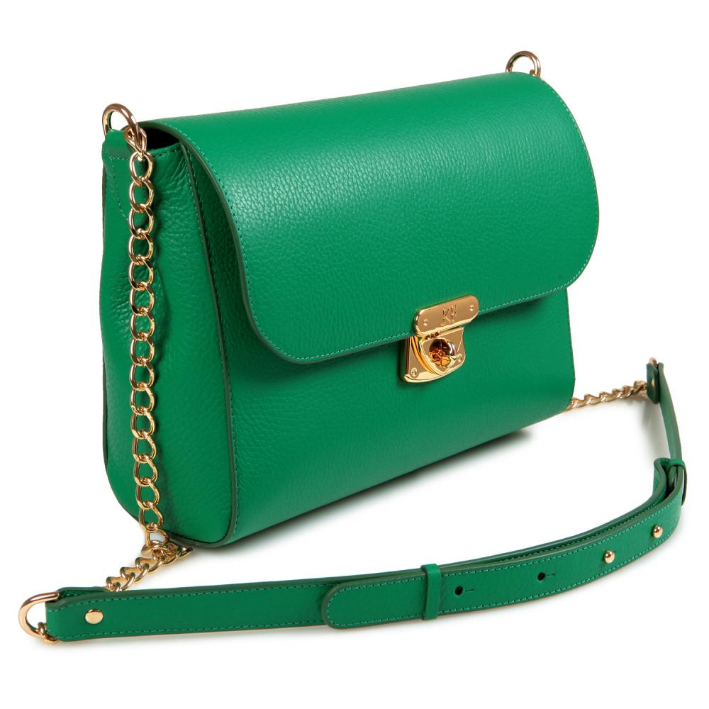 Жіноча шкіряна сумка на ланцюжку Prima M KF-715-1
