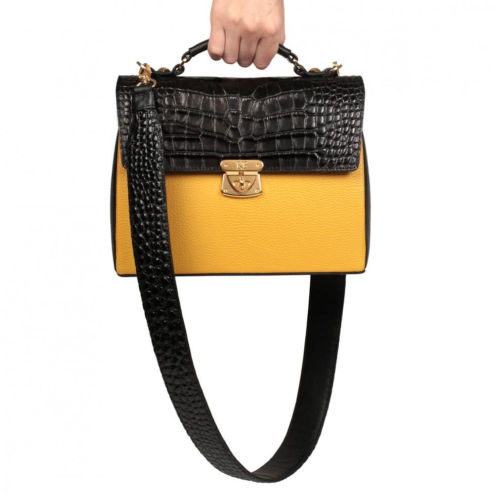 Жіночий шкіряний портфель Kristina KF-789