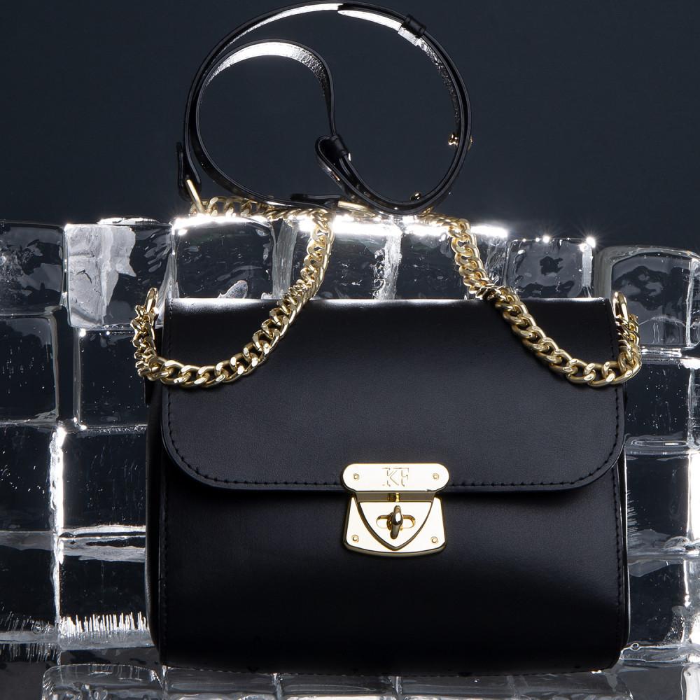Жіноча шкіряна сумка на ланцюжку Prima S KF-925