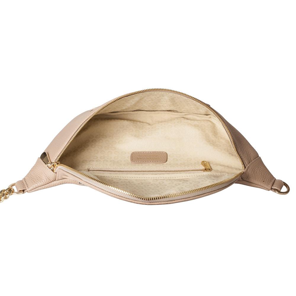 Жіноча шкіряна сумка бананка Bananka L KF-4402-3